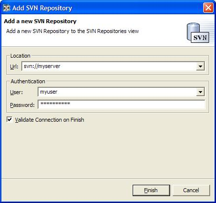 New Repository Dialog
